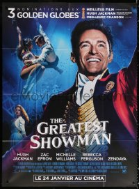 2z0933 GREATEST SHOWMAN advance French 1p 2018 impossible comes true, Hugh Jackman as P.T. Barnum!