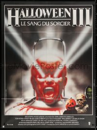 2z0939 HALLOWEEN III French 1p 1983 Season of the Witch, sequel, cool horror image by Landi!