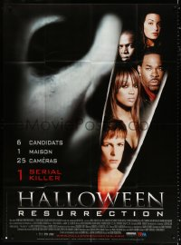 2z0940 HALLOWEEN RESURRECTION French 1p 2002 Jamie Lee Curtis, Busta Rhymes, Tyra Banks, horror!