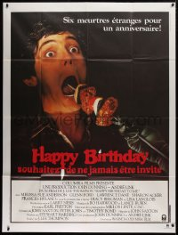 2z0942 HAPPY BIRTHDAY TO ME French 1p 1981 gruesome shish kebab image, the most bizarre murders!