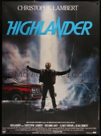 2z0951 HIGHLANDER French 1p 1986 different art of immortal Christopher Lambert by Rombi!