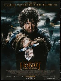 2z0952 HOBBIT: THE BATTLE OF THE FIVE ARMIES advance French 1p 2014 Martin Freeman as Bilbo Baggins!