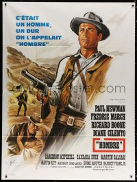 2z0953 HOMBRE French 1p 1966 Martin Ritt, completely different art of Paul Newman by Boris Grinsson!