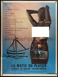 2z0996 LA MAFIA DU PLAISIR French 1p 1971 Jean-Claude Roy, montage on naked woman by Robert Cesar!