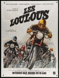 2z1010 LES LOULOUS French 1p 1976 Roger Boumendil art of motorcycle racers, rare!