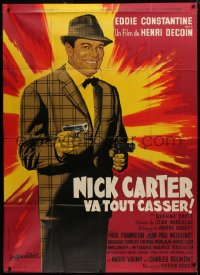 2z1015 LICENSE TO KILL French 1p 1964 Guy Gerard Noel art of Eddie Constantine as Nick Carter!