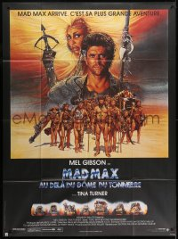 2z1027 MAD MAX BEYOND THUNDERDOME French 1p 1985 Richard Amsel art of Mel Gibson & Tina Turner!