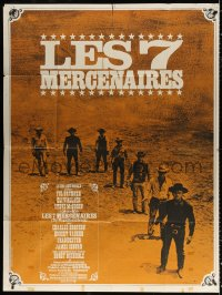 2z1028 MAGNIFICENT SEVEN French 1p R1970s Brynner, Steve McQueen, John Sturges' 7 Samurai western!