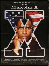 2z1030 MALCOLM X French 1p 1992 directed by Spike Lee, different c/u of Denzel Washington!