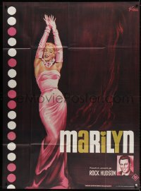 2z1038 MARILYN French 1p R1982 sexy full-length art of young Monroe by Boris Grinsson!