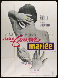 2z1039 MARRIED WOMAN French 1p 1965 Jean-Luc Godard's Une femme mariee, controversial sex triangle!