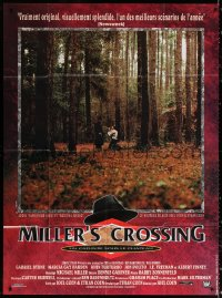 2z1043 MILLER'S CROSSING French 1p 1991 Coen Bros, Gabriel Byrne & John Turturro in forest!