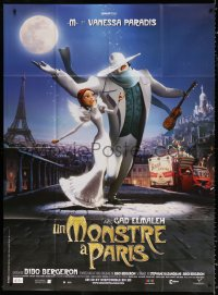2z1048 MONSTER IN PARIS French 1p 2011 country of origin animation, Eiffel tower in background!