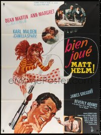 2z1053 MURDERERS' ROW French 1p 1967 McGinnis art of spy Dean Martin as Matt Helm & sexy Ann-Margret!