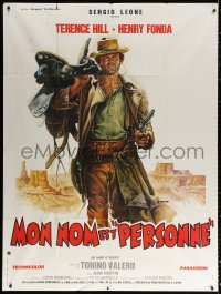 2z1055 MY NAME IS NOBODY style B French 1p 1974 Il Mio nome e Nessuno, art of Terence Hill by Casaro!