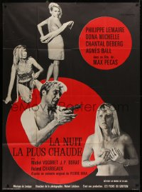 2z1060 NIGHT OF THE THREE LOVERS French 1p 1968 Lemaire, Donna Michelle, Chantal Deberg, Agnes Ball
