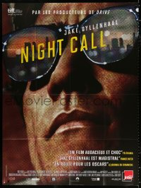 2z1061 NIGHTCRAWLER French 1p 2014 super close up of Jake Gyllenhaal wearing sunglasses!