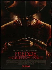 2z1063 NIGHTMARE ON ELM STREET advance French 1p 2010 creepy Jackie Earle Haley as Freddy Kreuger!