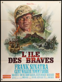 2z1067 NONE BUT THE BRAVE French 1p 1965 Frank Sinatra, Tatsuya Mihashi, different art by Mascii!