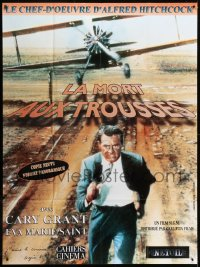 2z1068 NORTH BY NORTHWEST French 1p R1990s Cary Grant chased by cropduster, Alfred Hitchcock classic!