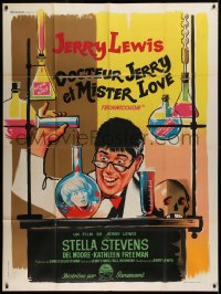 2z1070 NUTTY PROFESSOR French 1p 1963 wacky artwork of Jerry Lewis working in his laboratory!