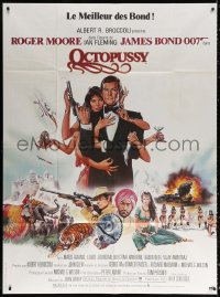 2z1072 OCTOPUSSY French 1p 1983 art of sexy Maud Adams & Roger Moore as James Bond by Goozee!