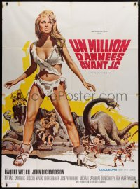 2z1074 ONE MILLION YEARS B.C. French 1p R1970s full-length sexy prehistoric cave woman Raquel Welch!