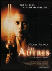 2z1076 OTHERS French 1p 2001 creepy close up image of Nicole Kidman with lantern, horror!