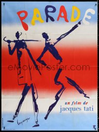 2z1080 PARADE French 1p 1974 Jacques Tati, cool surreal art by Lagrange & Roger Boumendil!