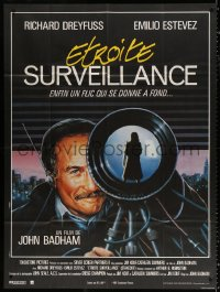 2z1156 STAKEOUT French 1p 1988 different Grey/Philippe art of Richard Dreyfuss spying on woman!