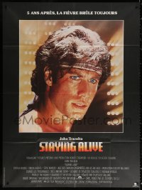 2z1158 STAYING ALIVE French 1p 1983 super close up of John Travolta in Saturday Night Fever sequel!