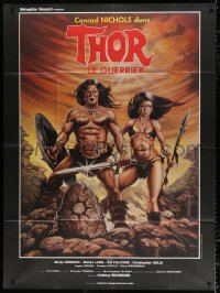 2z1180 THOR THE CONQUEROR French 1p 1983 Conan rip-off, cool different sword & sorcery art!