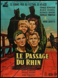 2z1190 TOMORROW IS MY TURN French 1p 1962 Jean Mascii art of Charles Aznavour, Courcel & top cast!