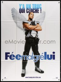 2z1193 TOOTH FAIRY teaser French 1p 2010 wacky image of Dwayne The Rock Johnson with armor & wings!