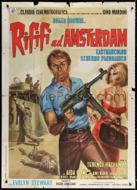 2z0659 RIFIFI IN AMSTERDAM style B Italian 1p 1967 Sergio Grieco, Mos art with jewel thief & sexy babe!