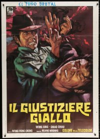 2z0660 RIGHTEOUS FIST Italian 1p 1973 different kung fu cowboy action artwork by Piero Ermanno Iaia