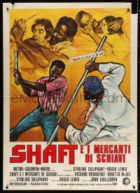 2z0677 SHAFT IN AFRICA Italian 1p 1973 different art of Richard Roundtree fighting & loving!
