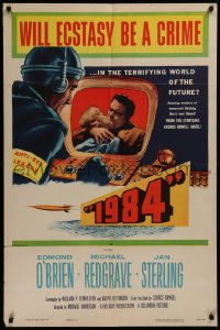 3a0741 1984 1sh 1956 Edmond O'Brien & Jan Sterling in George Orwell classic sci-fi story!