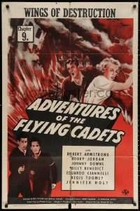 3a0748 ADVENTURES OF THE FLYING CADETS chapter 9 1sh 1943 Universal serial, Wings of Destruction!