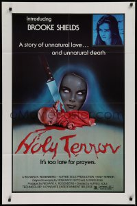 3a0753 ALICE SWEET ALICE 1sh R1981 first Brooke Shields, disturbing knife-in-doll photo, Holy Terror!