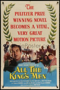 3a0755 ALL THE KING'S MEN 1sh 1949 Louisiana Governor Huey Long biography with Broderick Crawford!