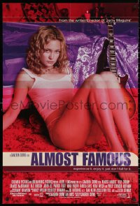 3a0757 ALMOST FAMOUS int'l DS 1sh 2000 Crowe directed, different image of super-sexy Kate Hudson!