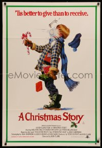 3a0356 CHRISTMAS STORY Aust 1sh 1984 classic Christmas movie, best different art, ultra rare!