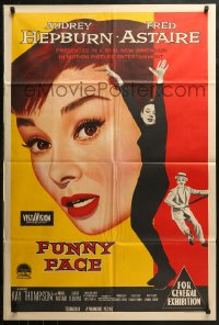 3a0374 FUNNY FACE Aust 1sh 1957 different art of Audrey Hepburn close up & full-length + Astaire!