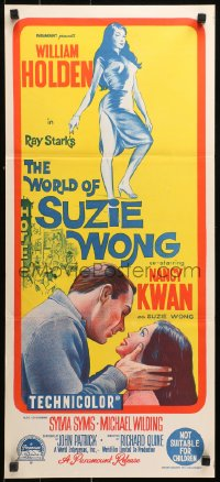 3a0727 WORLD OF SUZIE WONG Aust daybill 1960 William Holden was the first man that Kwan ever loved!