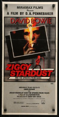 3a0731 ZIGGY STARDUST & THE SPIDERS FROM MARS Aust daybill 1984 David Bowie, D. A. Pennebaker!