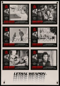 3a0735 LETHAL WEAPON Aust LC poster 1987 different images of cop partners Mel Gibson & Danny Glover!