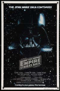 3a0863 EMPIRE STRIKES BACK NSS style advance 1sh 1980 George Lucas classic, Vader in space!