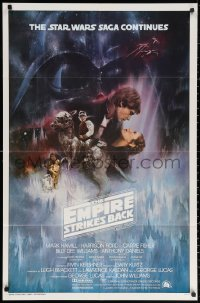 3a0862 EMPIRE STRIKES BACK int'l 1sh 1980 classic Gone With The Wind style art by Roger Kastel!