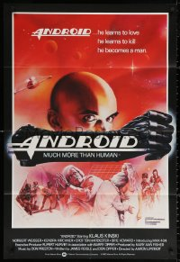 3a0760 ANDROID English 1sh 1982 Klaus Kinski, Weisser, Joann art, Max 404 learns to love & kill!